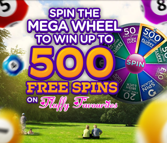 Bite Size Bingo - Win Up to 500 Free Spins - Mega Wheel